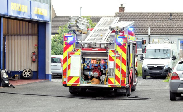 fire appliance newtownards 1 c albert bridge geograph ireland