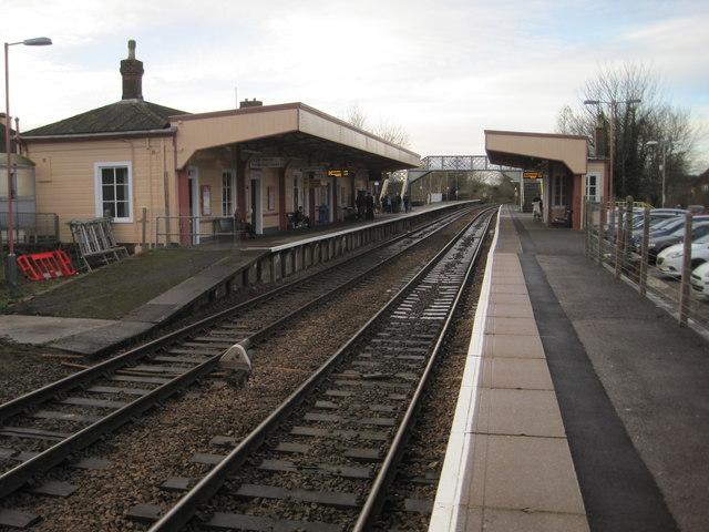 Warminster railway station Wiltshire  Nigel Thompson cc