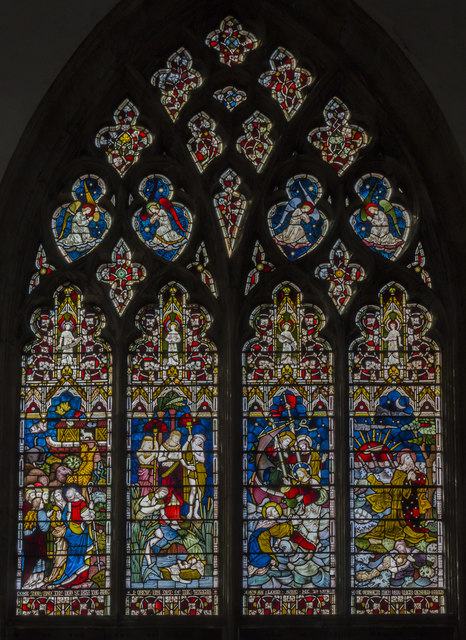 Stained glass window Holy Trinity  Julian P Guffogg  Geograph Britain and Ireland