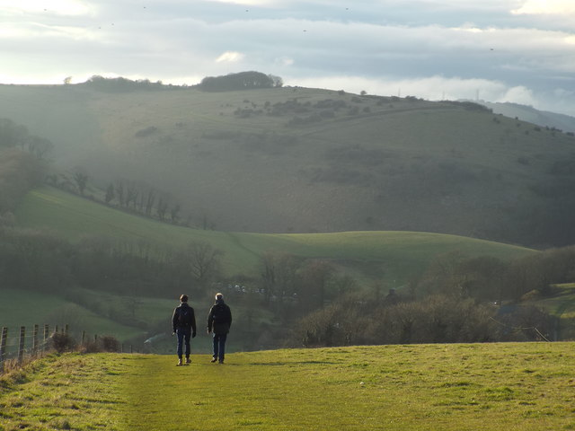 South Downs Way near Saddlescombe