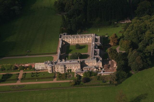Worksop Manor aerial 2017 2  Chris  Geograph Britain