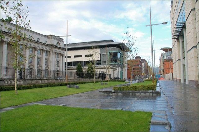 Chichester Street lower Belfast  Albert Bridge ccby