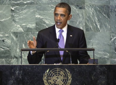 US President Barack Obama speaking to the UN last week