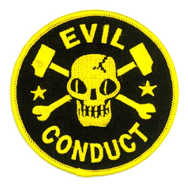 Rebel Sound Music  Evil Conduct  Skull Logo Patch
