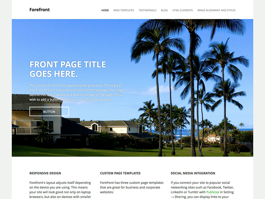 forefront theme wordpress com