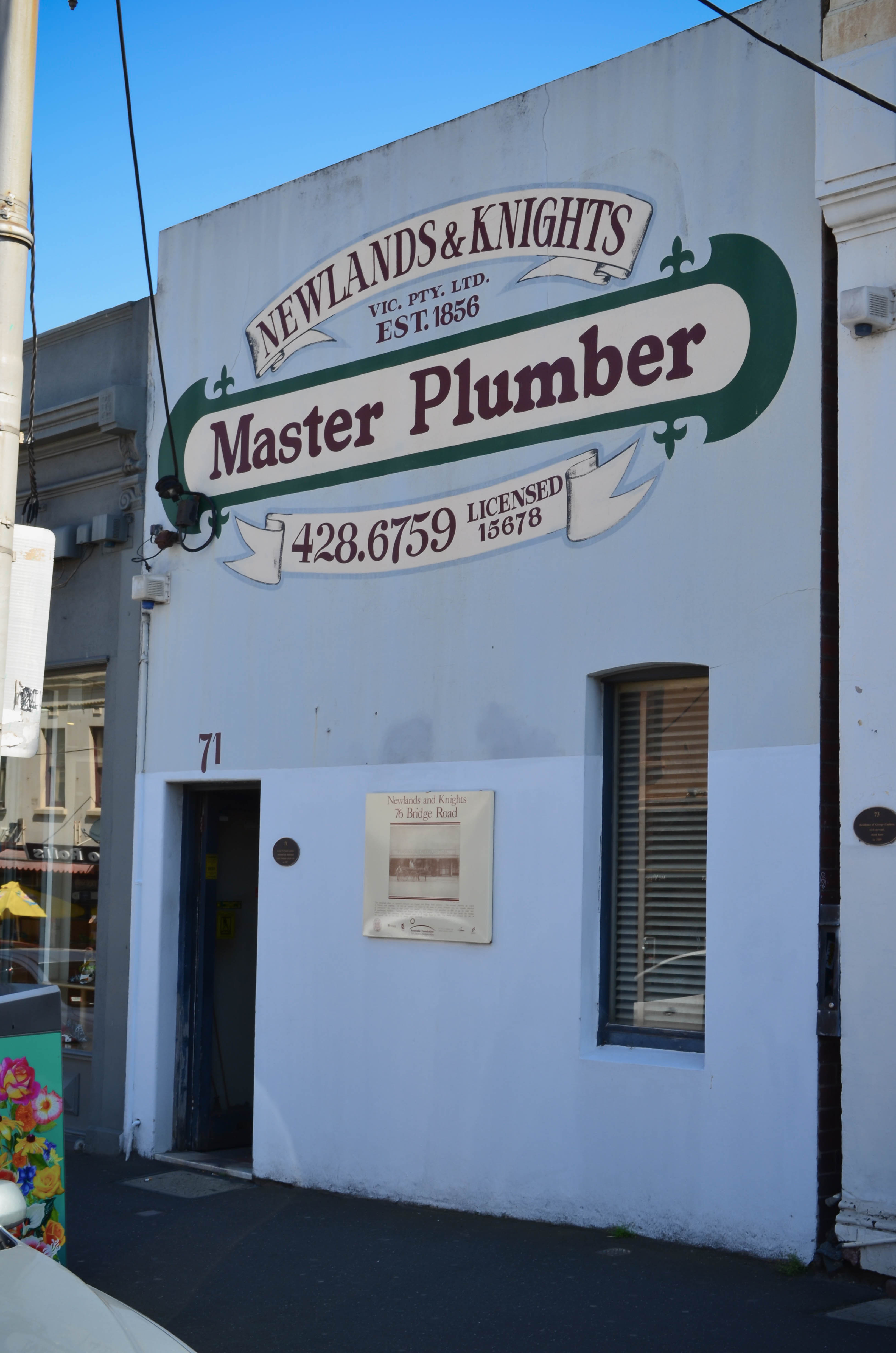 Newlands  Knights Plumbing  Plumbers  Gas Fitters  71
