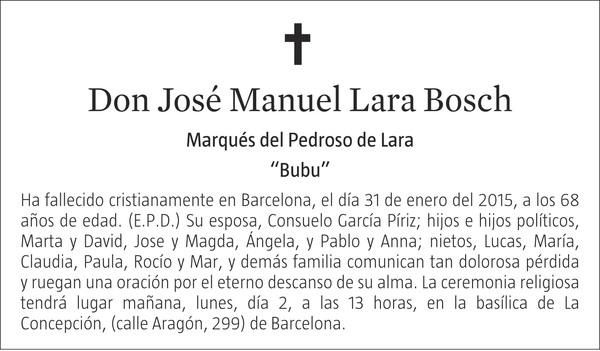 JOSÉ MANUEL LARA BOSCH