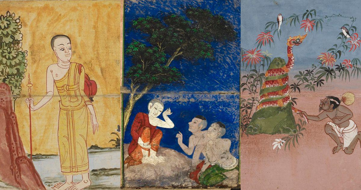 Illustrations: The many lives of Gautama Buddha in 18th and 19th century manuscripts