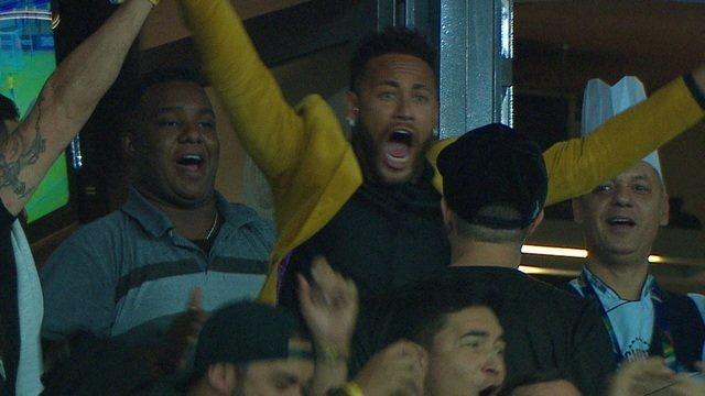 Confira a vibração de Neymar e Presidente Bolsonaro após o gol do Brasil na partida