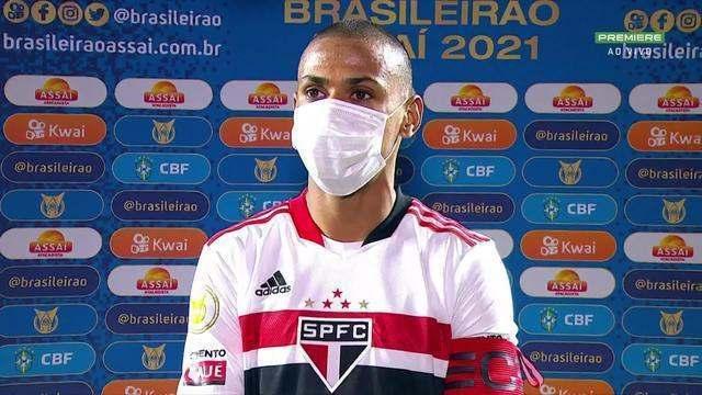 Bruno Alves fala sobre o empate do São Paulo com a Chapecoense