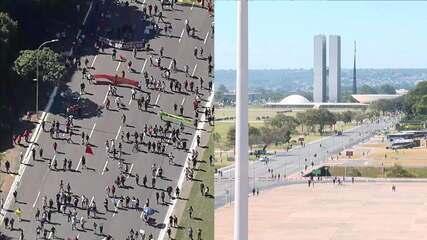 Manifestantes se concentram em Brasília