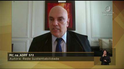 Inquérito das fake news: Alexandre de Moraes acompanha voto do relator