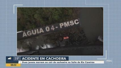 Duas jovens morrem ao cair em cachoeira na Serra de SC