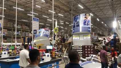 Prateleiras desabam em supermercado de São Luís (MA)
