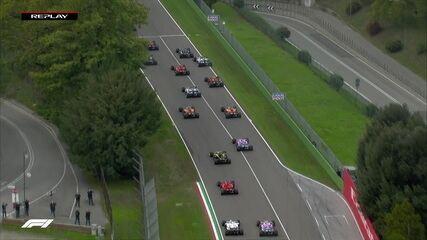 Confira o replay da largada do GP de Emilia Romagna de Fórmula 1