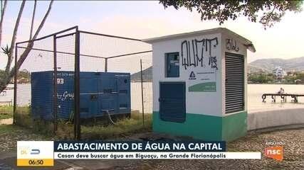 Casan deve buscar água em Biguaçu para abastecimento de Florianópolis