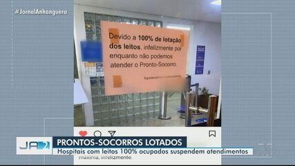 Lotados, hospitais fecham pronto-socorro, em Goiânia