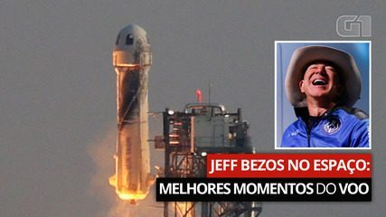 Jeff Bezos no espaço: Veja os melhores momentos do voo e entenda o caso