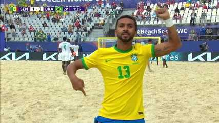 Goal of Brazil!  Zé Lucas hits a beautiful volley - 2nd period