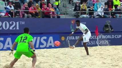 Senegal 5 x 4 Brazil goals for the beach soccer World Cup