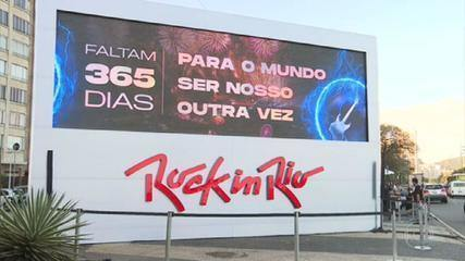Clock counts down to Rock in Rio