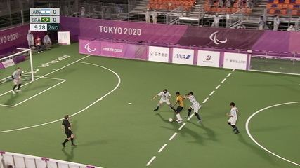 Highlights: Brazil 1 x 0 Argentina in the final of Football 5-a-side - Tokyo Paralympics