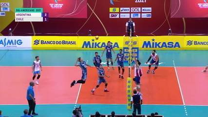 Highlights: Argentina 3 x 1 Chile, for the Sudamericana de Volleyball
