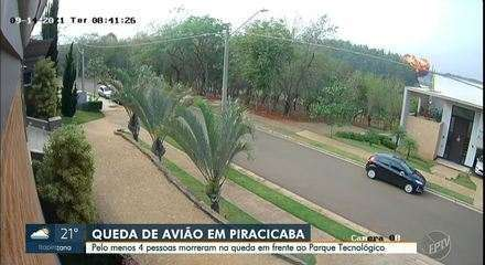 Safety circuit records the moment when the plane crashes in the forest area of Piracicaba