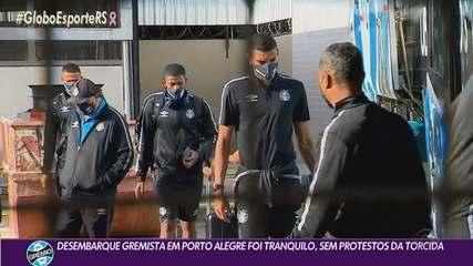 Still without a coach, Grêmio lands calmly in Porto Alegre
