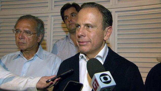 Resultado de imagem para Doria tenta encontro com Bolsonaro no Rio, mas presidenciável não aparece