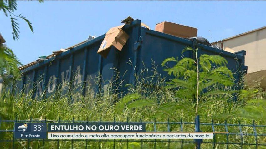 Área vizinha ao Ouro Verde tem descarte irregular de lixo