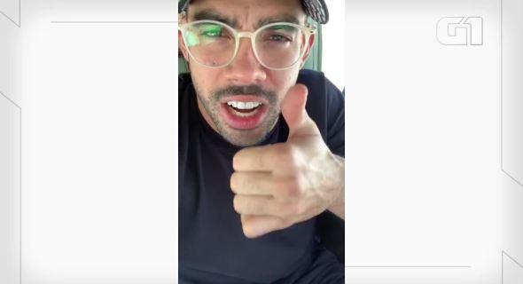 Gabriel Diniz fala em vídeo gravado em avião