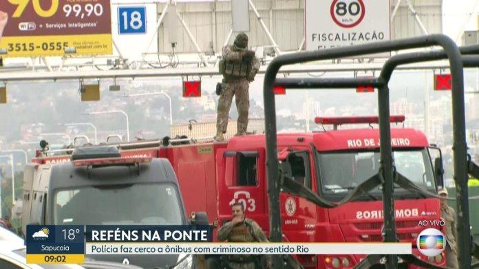Policia dispara tiros na Ponte Rio-Niterói