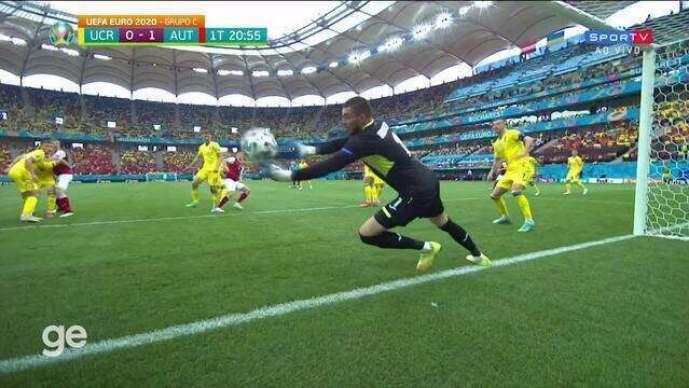 Gol: Ucrânia 0 x 1 Áustria pela 3ª rodada da Eurocopa