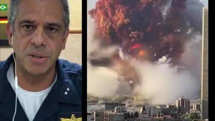 Contra-almirante afirma que nenhum militar brasileiro se feriu em explosão no Líbano