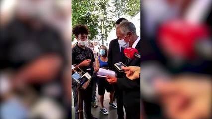Jovem brasileiro vendeu e autografou livro para o presidente de Portugal