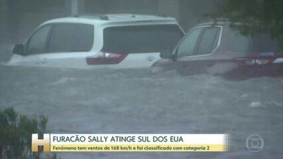 Furacão Sally chega aos Estados Unidos com ventos de 168 km/h
