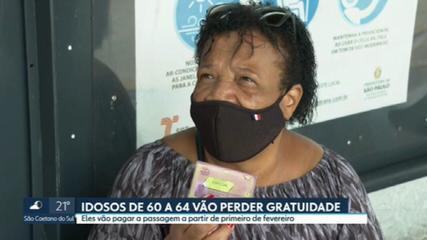 Idosos de 60 a 64 anos vão perder a gratuidade nos ônibus de São Paulo