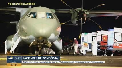 Nove pacientes com Covid-19 vindos de Rondônia chegam para internação no RS na terça (26)