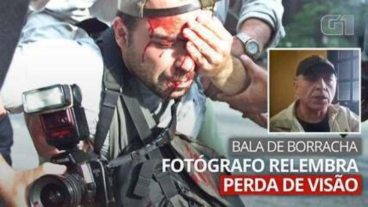 VÍDEO: Fotógrafo que tomou tiro de borracha no olho em 2000 relembra o caso