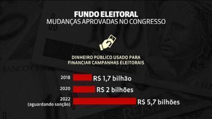 Aumento do valor do fundo eleitoral aguarda sanção de Bolsonaro; Congresso aprovou passar de R$ 2 bi para R$ 5,7 bi