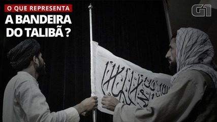 What is written on the Taliban flag?