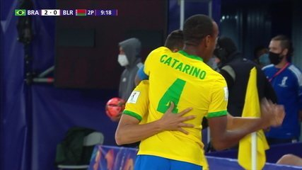 Goal of Brazil!  Edson Hulk cuts the marker beautifully, hits the corner and extends, at 3 of the 2nd period