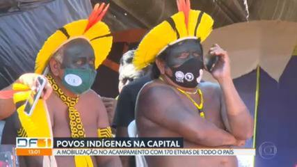 In Brasilia, indigenous people from 170 ethnic groups await judgment by the Supreme Court on land demarcation