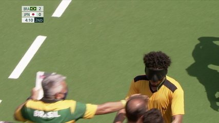Best moments Brazil 4 x 0 Japan in 5-a-side football at Tokyo Paralympics