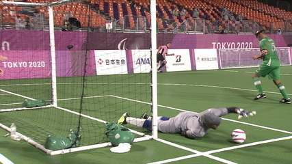Best moments of Brazil 1 x 0 Morocco in the semifinal of Futebol 5 - Paralympics Tokyo 2020