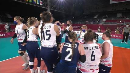 Best moments of Brazil 0 x 3 USA in women's seated volleyball semifinal - Tokyo Paralympics