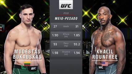 UFC Brunson vs. Till - Modest Bukauskas vs. Khalil Rountree