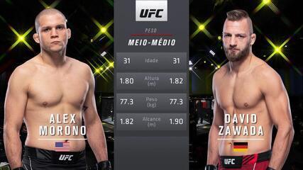 UFC Brunson v Till - Alex Morono v David Zawada