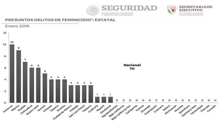 Veracruz es el estado con más feminicidios registrados en